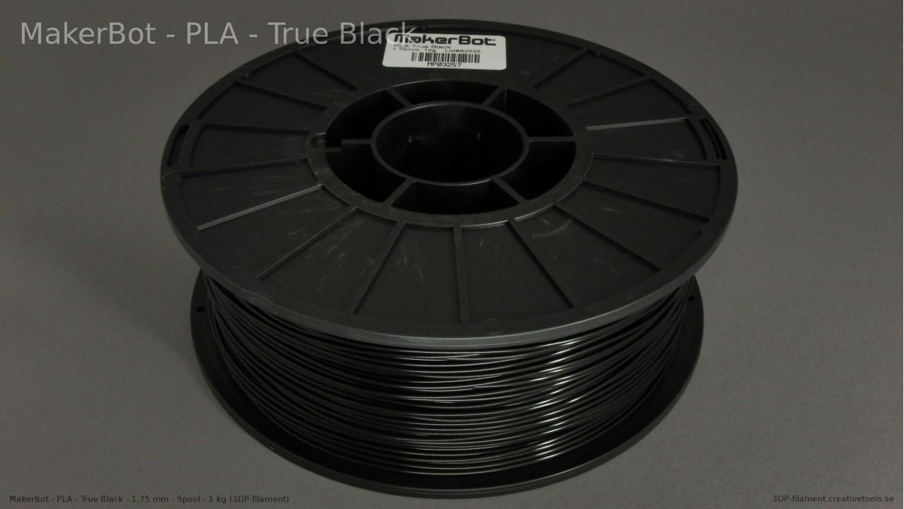 MakerBot - PLA - Black - 1,75 mm - Spool - 1 kg (3DP-filament)