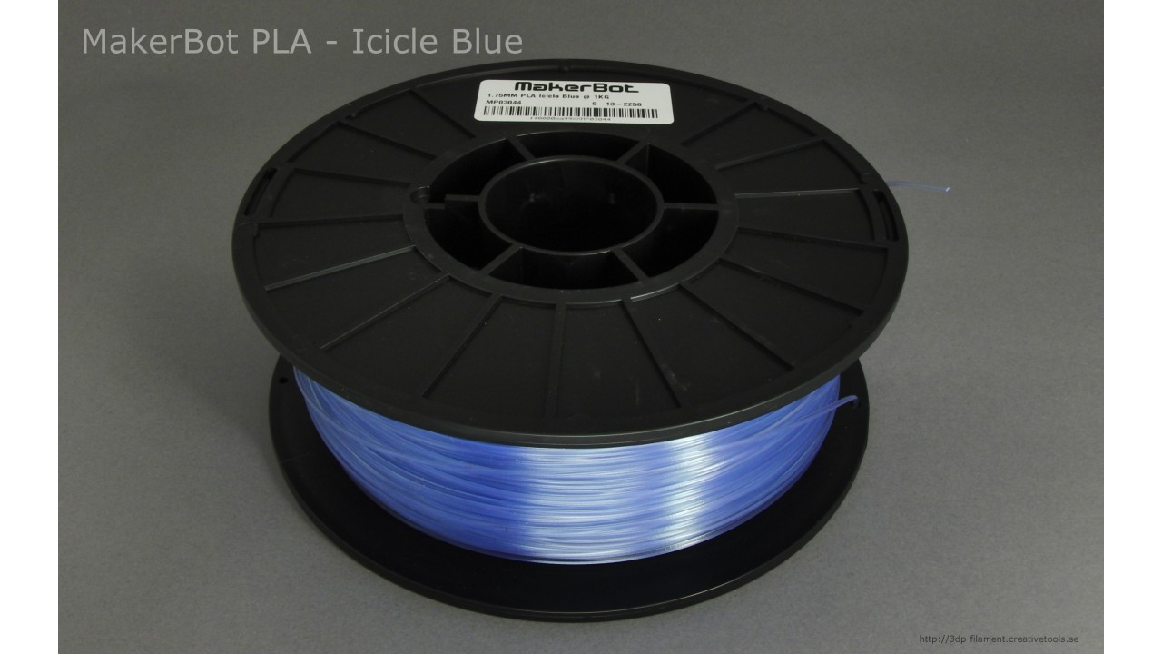MakerBot - PLA - Translucent Blue - 1,75 mm - Spool - 1 kg (3DP-filament)