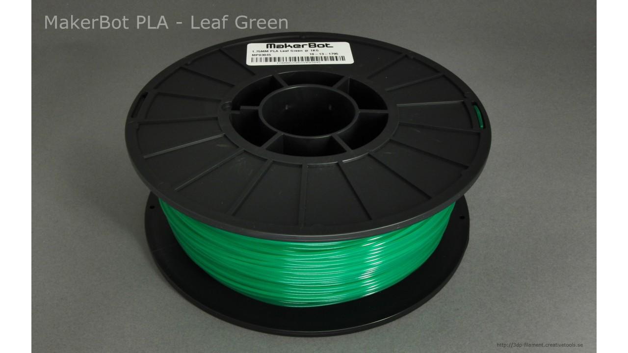 MakerBot - PLA - Translucent Green - 1,75 mm - Spool - 1 kg (3DP-filament)