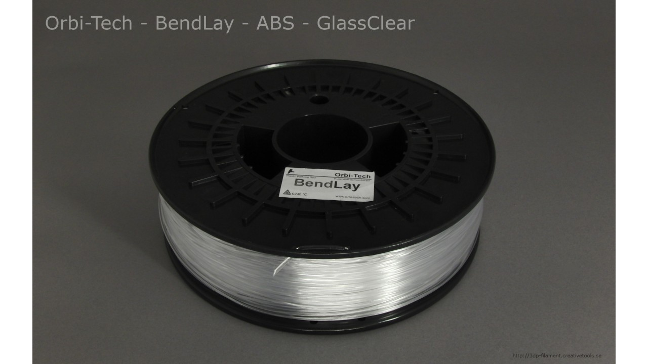 Orbi-Tech - BendLay® ABS - GlassClear - 1,75 mm - Spool - 0.75kg (3DP-filament)