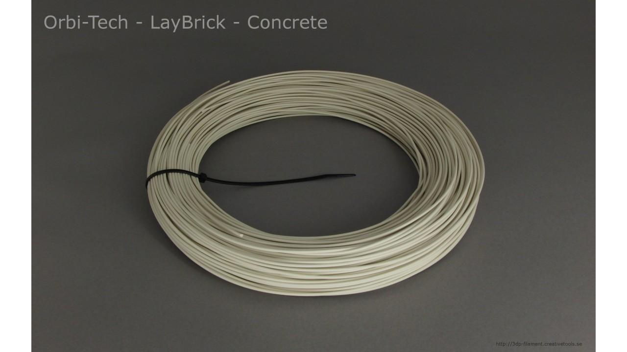 Orbi-Tech - LayBrick - Concrete - 1,75 mm - coil - 0.25kg (3DP-filament)