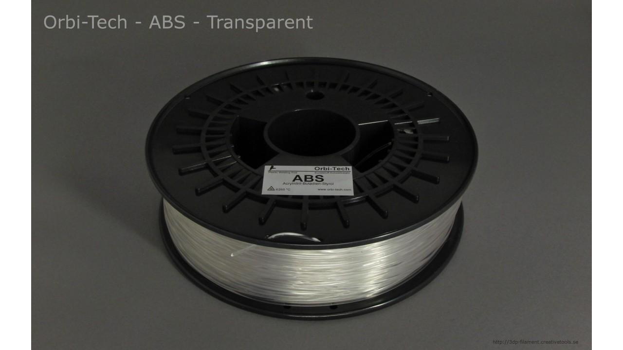 Orbi-Tech - ABS - Transparent - 1,75 mm - Spool - 0.75kg (3DP-filament)