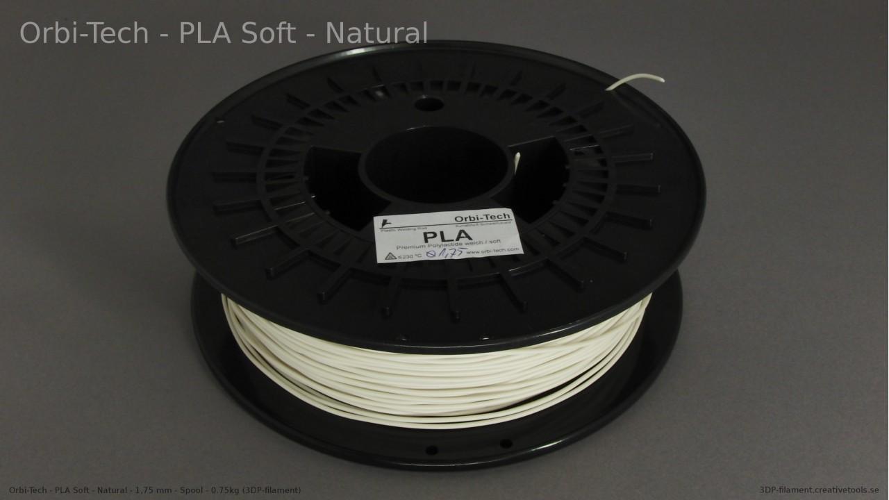Orbi-Tech - PLA Soft - Natural - 1,75 mm - Spool - 0.75kg (3DP-filament)
