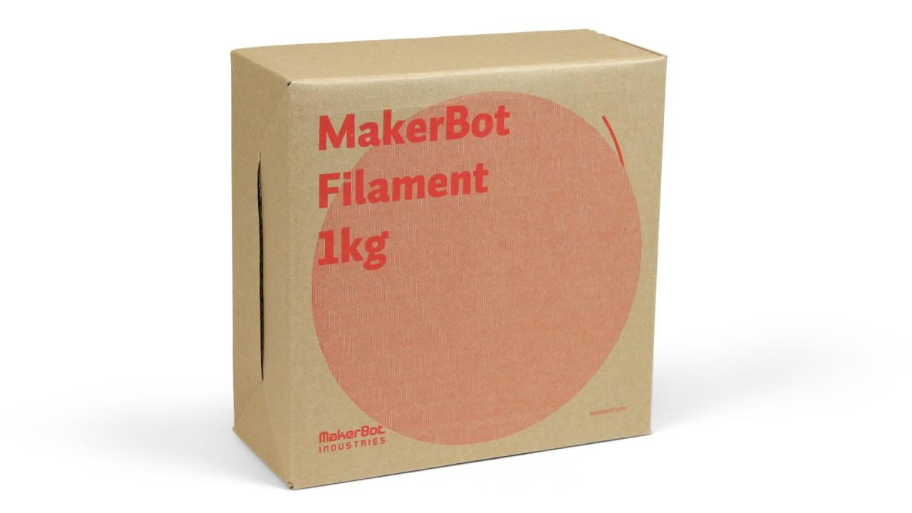 MakerBot - PLA - Cool Gray - 1,75 mm - Spool - 1 kg (3DP-filament)